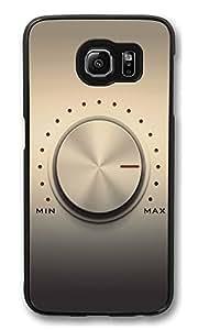 S6 Case, Volume Knob Creativity Ultra Fit Black Bumper Shockproof Case For Galaxy S6 Customizable Hard PC Samsung Galaxy S6