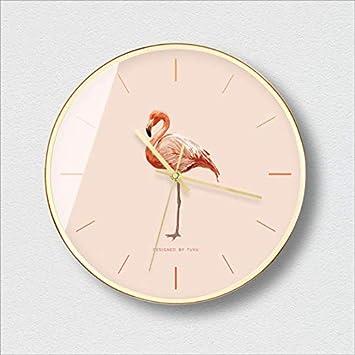 XIXIGZ Relojes De Pared Personalidad Nórdica Moda Reloj De Pared Flamenco Gato Moderno Minimalista Reloj De Pared Sala De Estar Tendencia Creativa Mudo ...