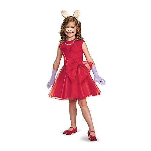 Miss Piggy Costume Women (Miss Piggy Classic Costume, Small (4-6x))