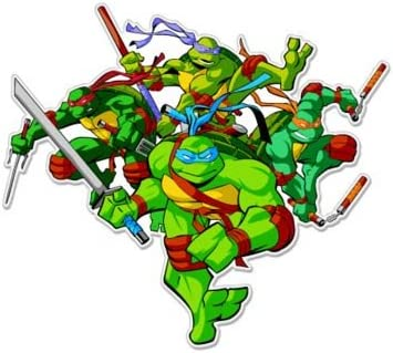 Teenage Mutant Ninja Turtles Cartoon Vinyl Sticker Decal 5x5 Car Bumper