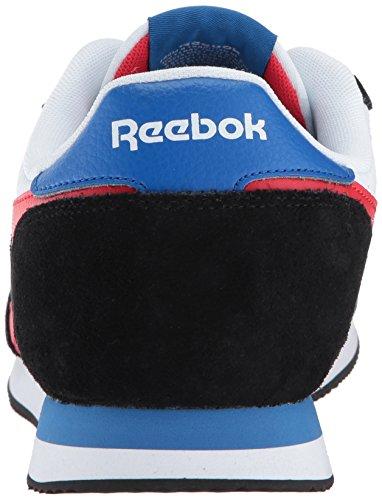 Reebok Heren Royal Cl Jogger 2 Fashion Sneaker Zwart / Wit / Oer Rood / Ontzagwekkend Blue
