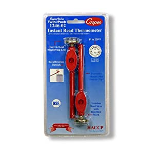 Well-Being-Matters 414-1JMYJOL._SS300_ COOPER Atkins 1246-02-2 Bi-Metal Pocket Test Thermometer with Adjustment Sheath, NSF Certified, 0/220°F Temperature…