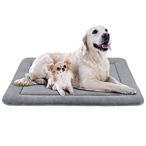 JoicyCo Extra Large Dog Bed Crate Mat 47 in Anti-Slip Washable Soft Mattress Kennel Pads