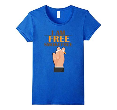 Womens Cool T shirt for Smokefree Guys. Anniversary Gifts for Him Medium Royal Blue