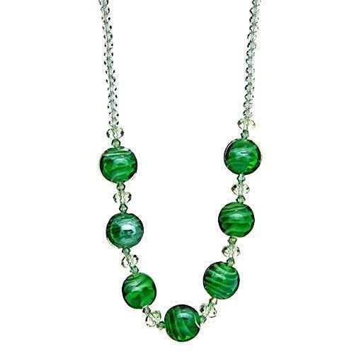 """Lova Jewelry """"Green Spheres"""" Hand-Blown Venetian Murano Glass ()"""
