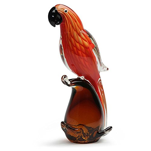 Glass Handmade Red Parrot - 10.5