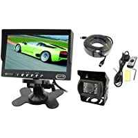 Water Proof Camera With 7.0 Inch LCD Monitor And 65 Feet Extension Cable Rear View System, 7 inch Back up System and Camera System