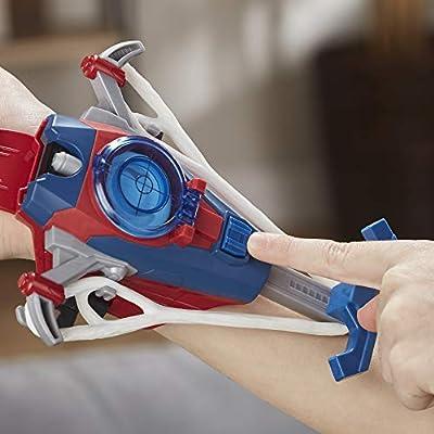 Spider-Man Web Shots Disc Slinger Blaster Toy for Kids Ages 5 & Up: Toys & Games