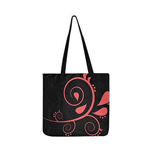Scroll Fleur De Lis Tattoo Design Decoration 309100 Canvas Tote Handbag Shoulder Bag Crossbody Bags Purses For Men And Women Shopping Tote