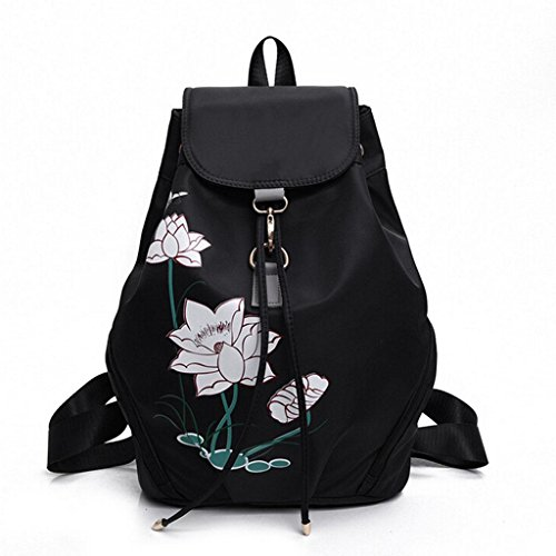 Printed Fhrr Ladies Sj Backpack Black Purple Handbag Bag Shoulder Student Female Bags Blue dqtwr5wZ