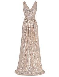 Women's Sleeveless Sequin Bridesmaid Dress