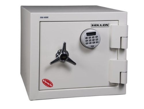 Dial Oyster - Hollon Safe FB-450E Oyster Series 2 Hr Fireproof Security Safe Size: 1.23 Cu.Ft., Lock Type: Electronic Lock