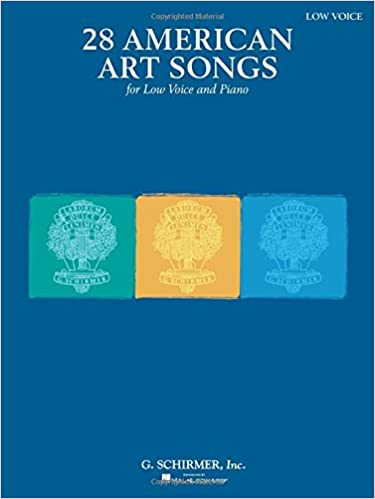 28 American Art Songs Low Voice and Piano