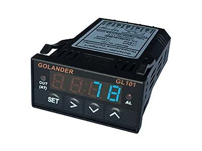 Universal 1/32 DIN PID Temperature Controller, Blue