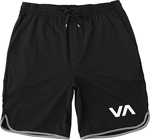 (RVCA VA Sports Short Workout Leisure Short (Black,)