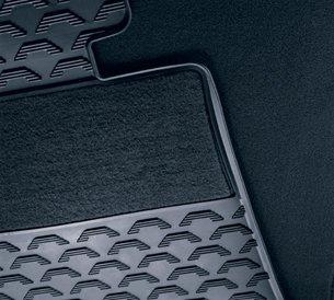 BMW FRONT Black 3 Series (Non XI) E90, E91, E92, E93 All Season Floor Mats 2006-2012 Genuine OEM 51470427552 (set of 2 front mats)