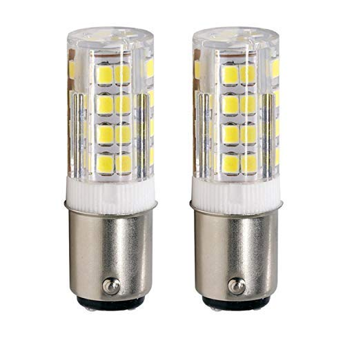 LED BA15D Corn Bulb, Ba15d Double Contact Bayonet Base, 4w 40W Equivalent 120 Volts, Dimmable 400Lm Max, Daylight(6000K) 2 pack [並行輸入品] B07R5VB8WM