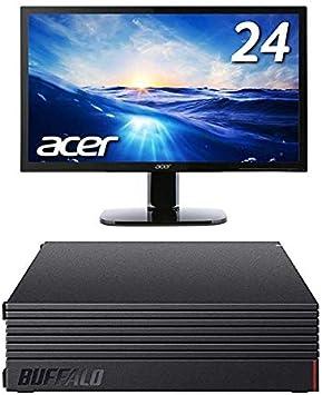BUFFALO 外付けハードディスク 6TB テレビ録画/PC/PS4/4K対応 HD-AD6U3 + Acer モニター ディスプレイ KA240Hbmidx 24インチ HDMI端子対応 スピーカー内蔵 ブルーライト軽減