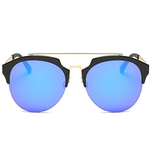 MKY Men Women Fashion Aviator Style Round Polarized Sunglasses UV400 - Mens Round Styles Face Glasses