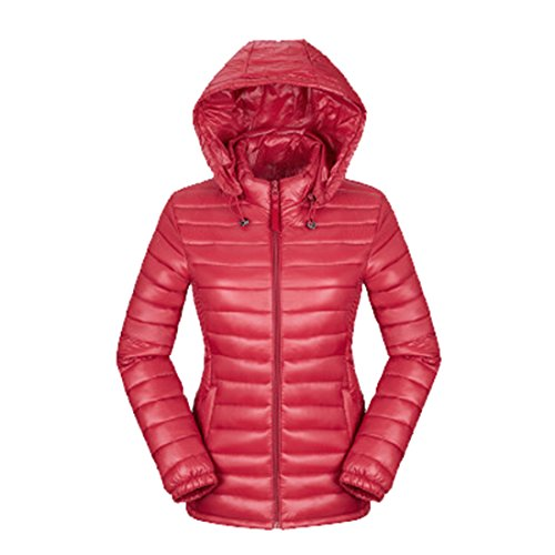 Respeedime Middle-Aged Women's Lightweight Down Jacket Autumn and Winter Hooded Large Size Coat