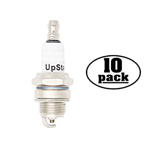 10-Pack Compatible Spark Plug for Lesco Blower LHB2500, LHE2500, LHB4400 - Compatible Champion RCJ7Y & NGK BPMR6F Spark Plugs