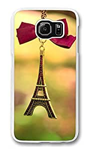 Galaxy S6 Case, S6 Case, Customized Shock Absorption Bumper Case PC Clear Protective Cover Case for New Samsung Galaxy S6 Eiffel Tower Ornament