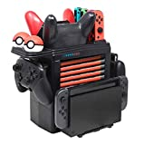 Tidoom Switch Wireless Controller Storage PS3 MultiFunction Bracket Tower Switch Controller Console Host Game Card Box Storage Holder Compatible for Nintendo Switch Pro Controller Joy-Con Pokemon Ball