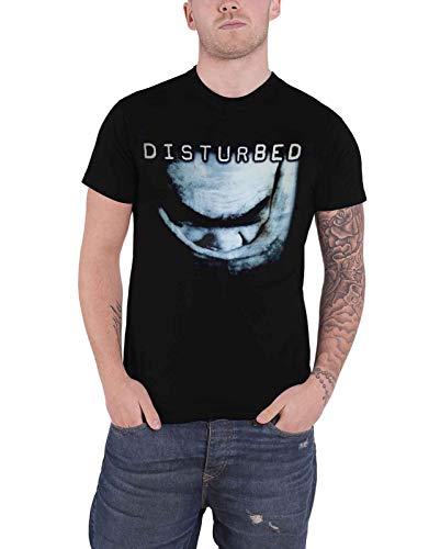 Disturbed T Shirt The Sickness Band Logo Official Mens Black Size L