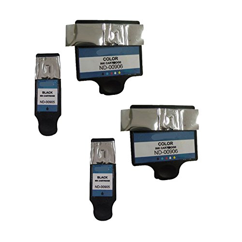 2 x Dell DW905 and 2 x Dell DW906 Compatible Series 20 Combo Pack - 2 Black & 2 Color Ink Cartridges