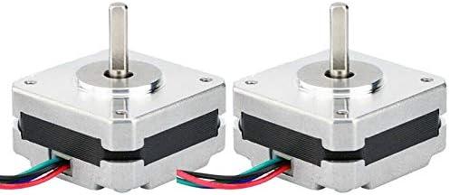 SovelyBoFan 2 Piezas 17Hs08-1004S 4 Cables Nema 17 Motor Paso una ...