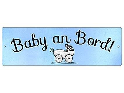 Plástico Cartel con ventosa bebé a bordo, * Azul * Auto ...