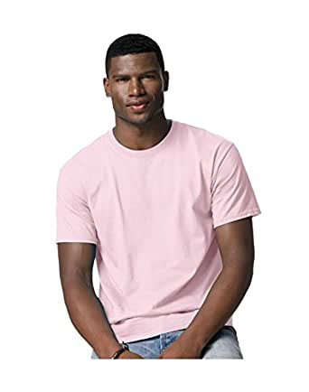 Hanes Tagless 100% Cotton T-Shirt, M, Pale Pink