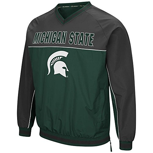 Colosseum Mens Michigan State Spartans Windbreaker Jacket - - Michigan Hoodie Football