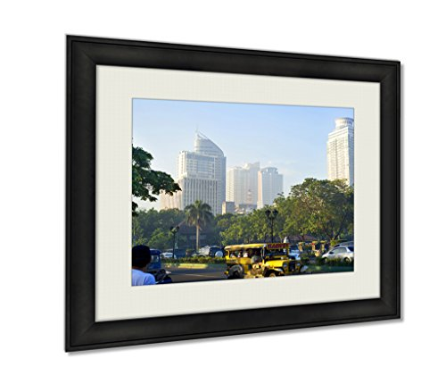 Ashley Framed Prints, Metro Manila, Wall Art Decor Giclee Photo Print In Black Wood Frame, Ready to hang, 24x30 Art, AG5974870