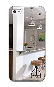 Pauline F. Martinez's Shop New Arrival Case Specially Design For Iphone 5c (kitchen With Stainless Pendant Light And Breakfast Bar) 4896894K65905007