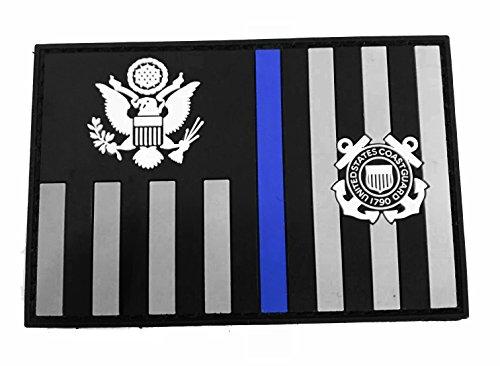 Stevens Tactical Shop Subdued Thin Blue Line Coast Guard Ensign Flag PVC Patch