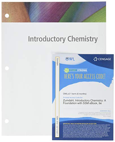 Bundle: Introductory Chemistry: A Foundation, Loose-leaf Version, 9th + OWLv2 with MindTap Reader & Student Solution