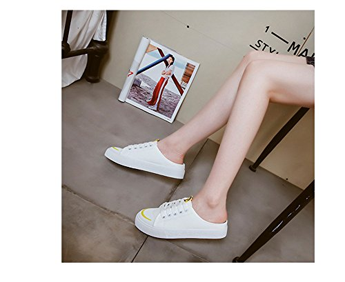 Canvas Casual White Trainers Sandal Women Lace Sneaker Fashion Shoes Shoes UPS for Cut and Sports Men Unisex Low ax5vP