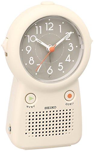 세이코 clock 자명종 아날로그 녹음 재생 기능부 아이보리 EF506C SEIKO