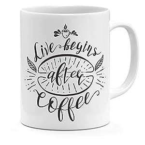 Loud Universe Ceramic Live Begins After Coffee Mug, White
