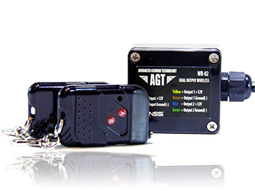 AGT 12V Waterproof Wireless Remote Control DC Universal 2-Channel Output Works LED Lights (12 Speed Control)