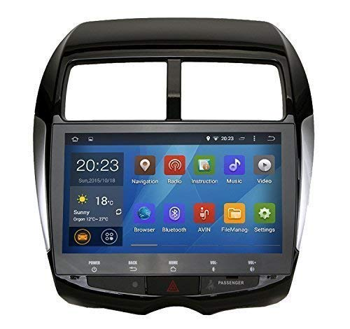 SYGAV Android 5.1.1 Lollipop Quad Core 10.1 Inch In-dash Car Stereo Video Player 2 Din 1024x600 Sat GPS Navi for 2010-2012 Mitsubishi ASX/Sport with Wifi Bluetooth Radio