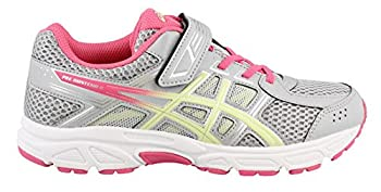Asics Unisex-child Pre-contend 4 Ps Shoes, Size: 12 M Us Little Kid, Color Mid Greylimelighthot Pink 0