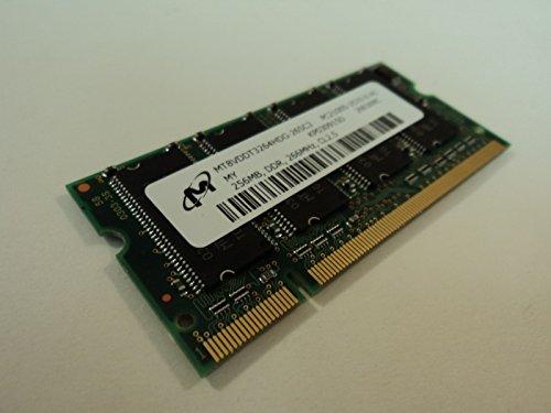 Micron RAM Memory Module 256MB PC2100S CL2.5 DDR 266MHz MT8VDDT3264HDG-265C3