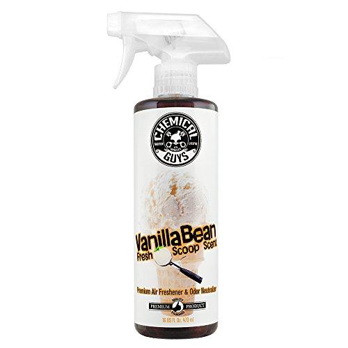 Chemical Guys AIR23116 Vanilla Bean Fresh Scoop Scent Air Freshener & Odor Eliminator, 16. Fluid_Ounces