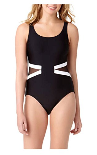 ef244b6d54f Catalina Women s Plus Black Rib One Piece Swimsuit