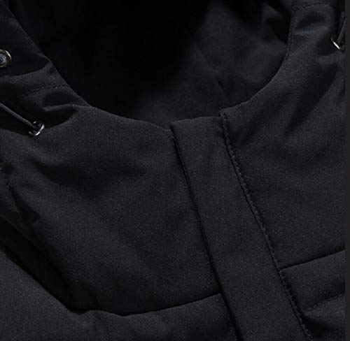Uomini Piumino Ttyllmao Degli Il Cappotto Packable Outwear Formato Di Incappucciati Inverno Più Nero HTx1R1