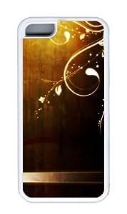 Customized Case Retro TPU White for Apple iPhone 5C