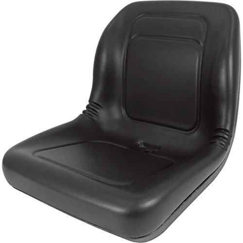 Lawn Mower, Garden Tractor UTV / ATV Seat Black High Back Vinyl Universal Mount ()