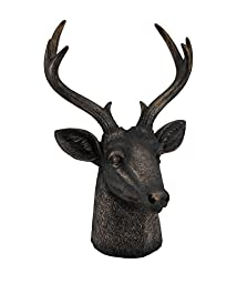 Antique Bronze Finish Stag Lord Deer Bust Statue